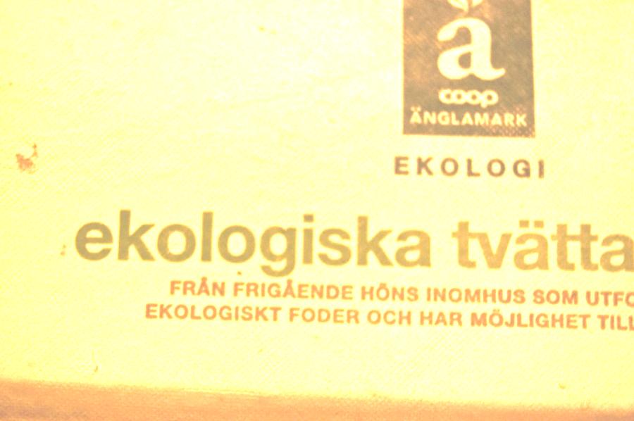 Ekologiska ägg från Änglamark. ca 40kr pkt