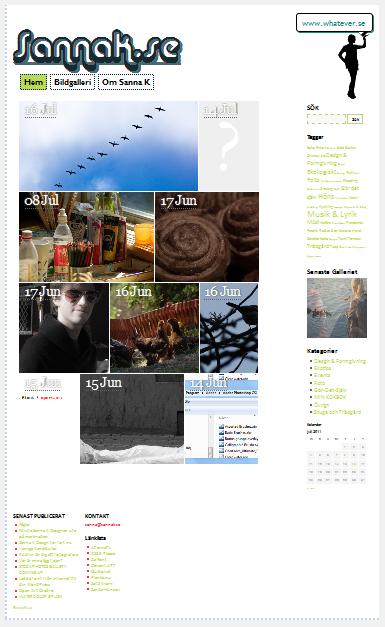 Simpelt WordPress theme med laddad font och uppiggande färger