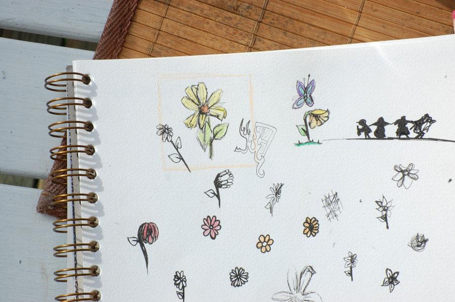 Mina skisser för min avikon, bortsett från sjunde inseglet.. Den bara är där.