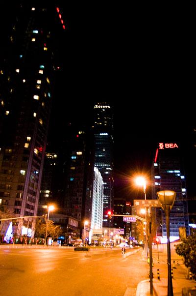 Beijing! På väg hem från middagen