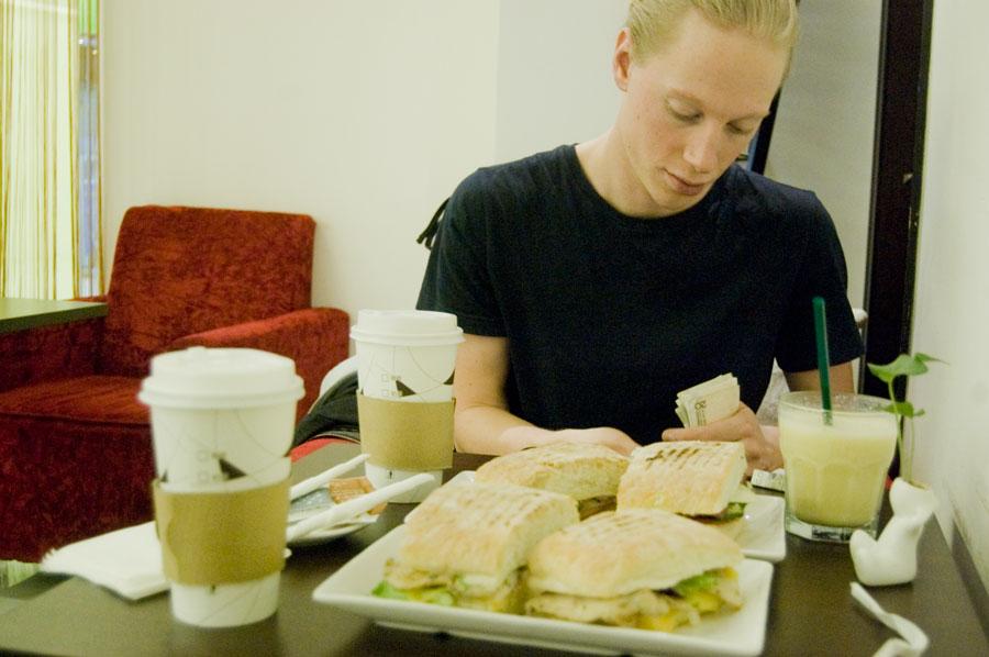 Frukost i Gallerian