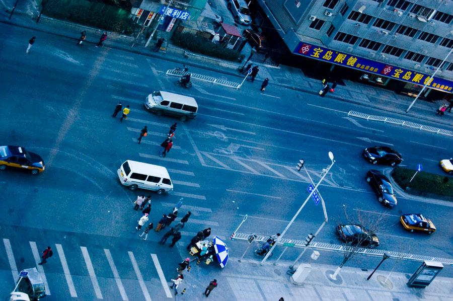 Morgon i Beijing