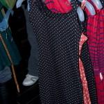 Pricking klänning i bomull