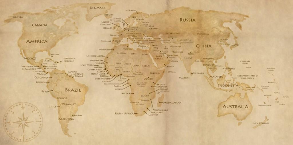 World Map by eliskan
